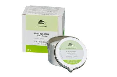 Massagekerze Limette Bambus