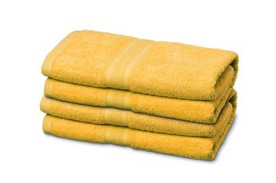 Badstof handdoeken, yellow