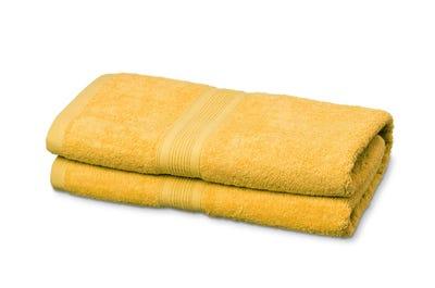 Badstof badhanddoeken, yellow