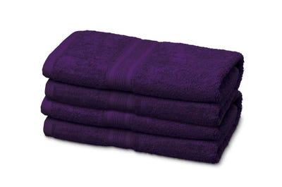 Badstof gastendoekje, purple