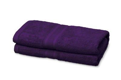 Badstof badhanddoeken, purple