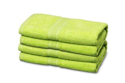 Badstof handdoeken, lime