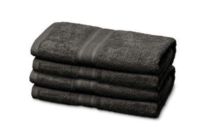 Badstof handdoeken, dark grey