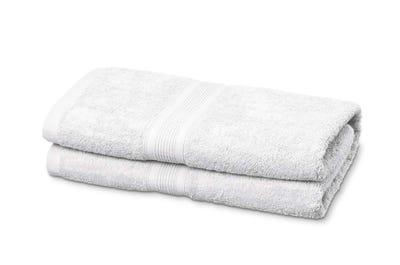 Badstof badhanddoeken, white