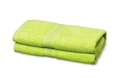 Badstof badhanddoeken, lime
