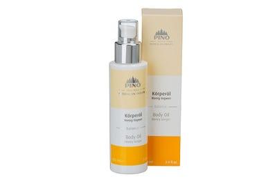Körperöl Honig Ingwer von Natural Spa Therapy mit Verpackung