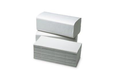 Papier-Falthandtücher in Naturweiß