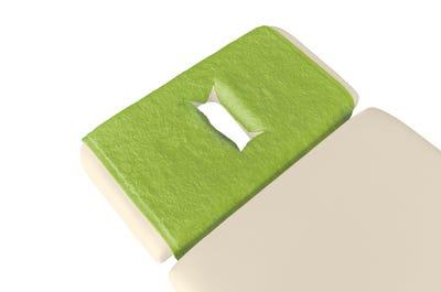 PINOTEX badstof hoofdsteundoeken met neusuitsparing extra lime