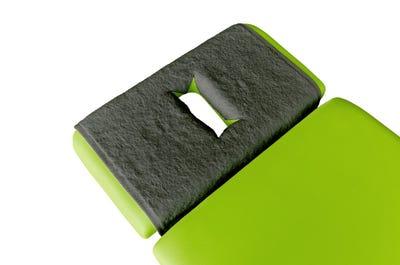 PINOTEX badstof hoofdsteundoeken met neusuitsparing dark grey