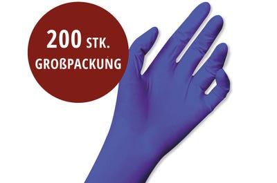 Einweg-Handschuhe Größe L, blau, 200 Stück
