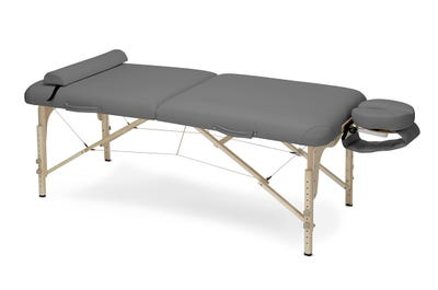Koffer Massagebank Buchenholz dark grey