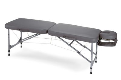 Koffer Massagebank Aluminium, dark grey